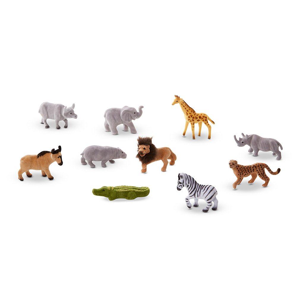 Safari venner. 10 vilde dyr i æske med fun facts. Kreativ og lærerig leg. www.ciha.dk