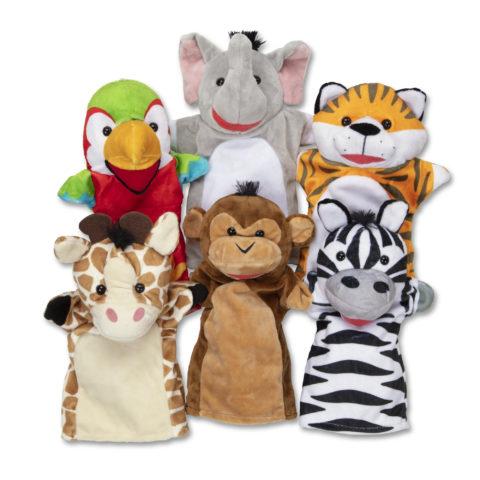 Safari venner hånddukker, 6 stk. til kreativ og sjov rolleleg, der styrker sproget. Køb hos Ciha.dk