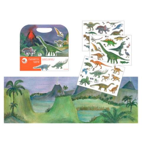 Dinosaurer i en flot magnetisk bog der styrker sproget. Køb flere varianter hos www.ciha.dk