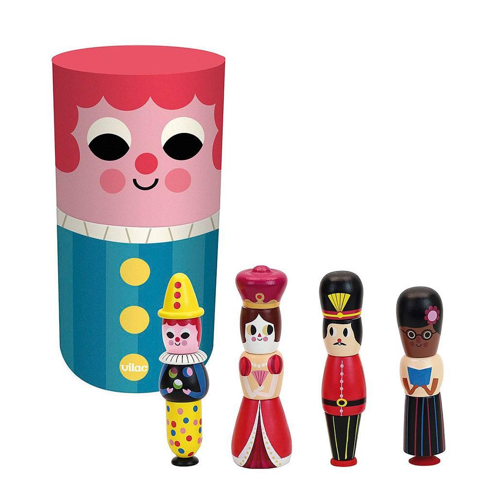 Magnetiske konger og dronninger fra franske vilaz. Køb vilac legetøj hos www.ciha.dk