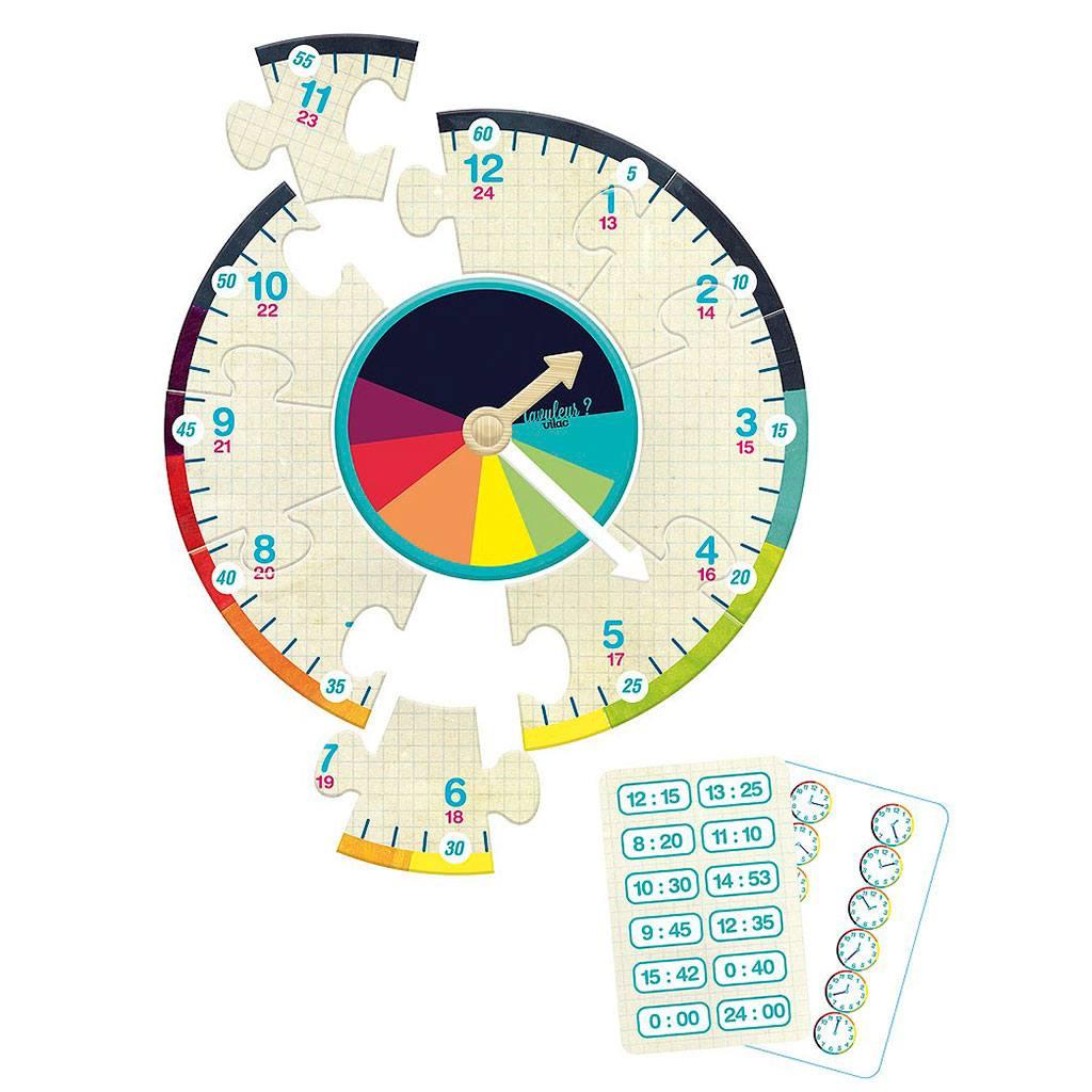 Lær klokken med dette sjove Vilac spil. Køb hos www.ciha.dk