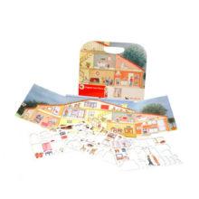 Magnetisk bog med hjemmet. Design og møbler dit eget hus mens i styrker sproget og sprogforståelse. Flere magnet bøger hos www.ciha.dk