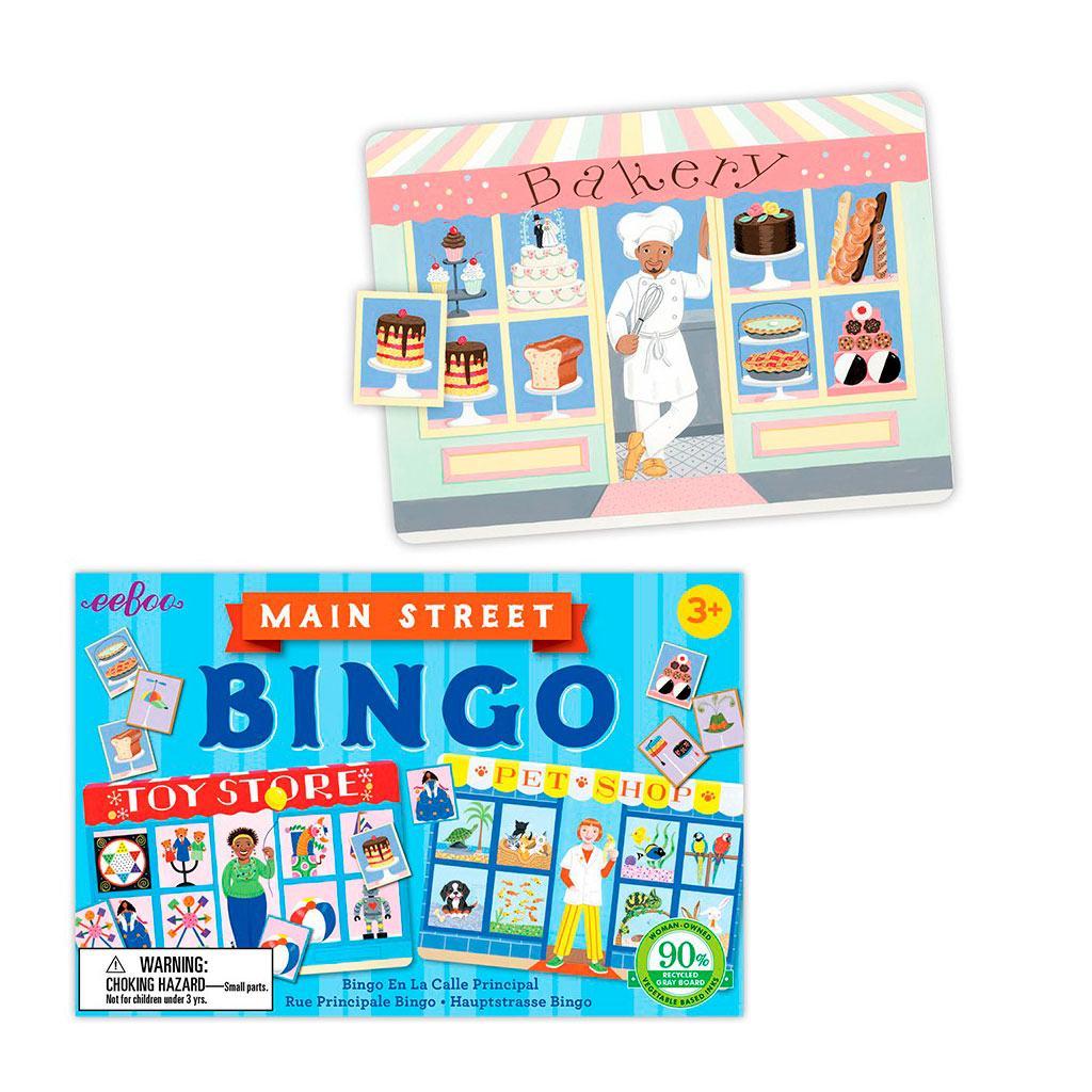Rejsespil med butikker i et sjovt billedlotteri fra eeboo. Perfekt til ferien. Køb legetøj til ferien hos www.ciha.dk