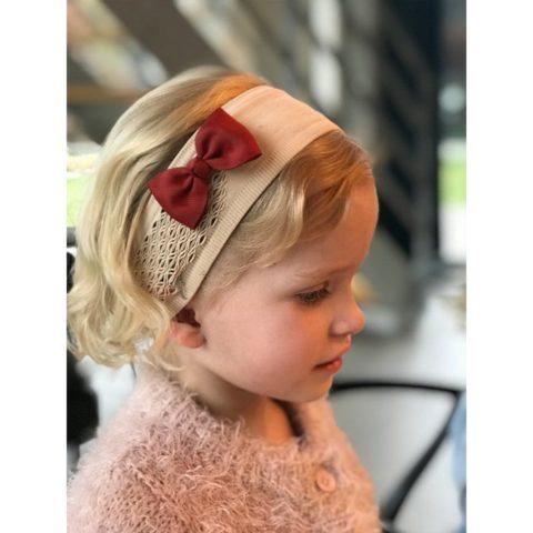 bowtie rust rød (7 cm) hår sløjfe fra By Står. Køb hos www.ciha.dk