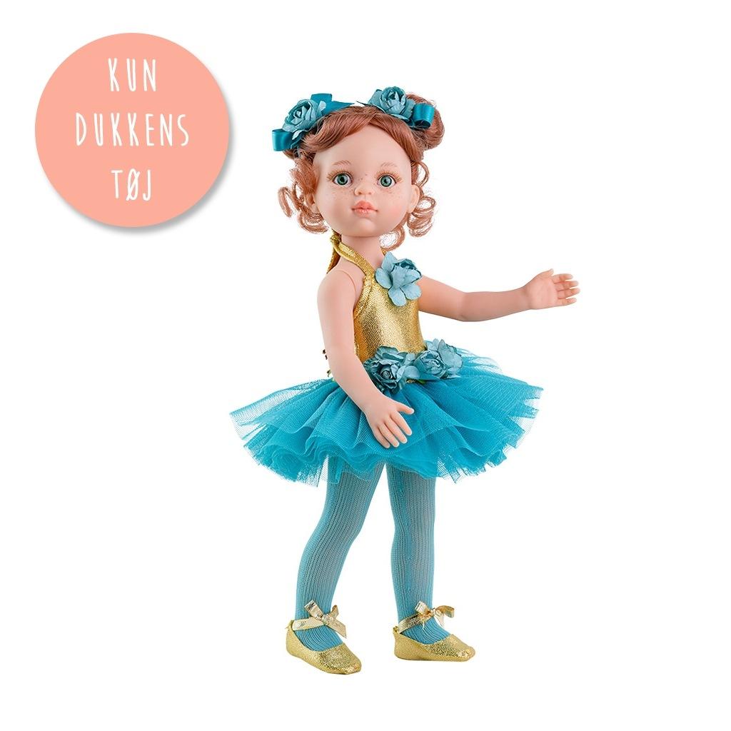 Image of   Amiga dukketøj - Ballerina turkis