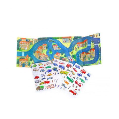 Magnetisk bog med biler. Sjov leg på farten der styrker sproget på flere områder. Køb magnetiske bøger fra Egmont hos www.ciha.dkj