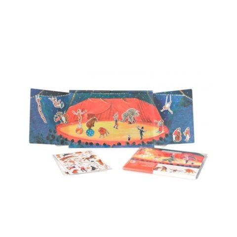 Magnetisk bog med cirkus. Sjov leg på farten der styrker sproget på flere områder. Køb magnetiske bøger fra Egmont hos www.ciha.dkj