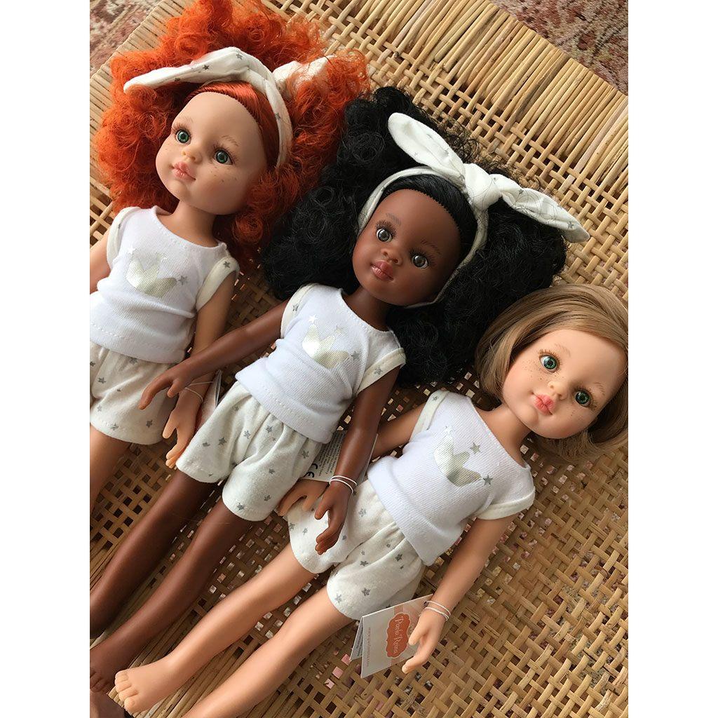 Carolina, Nora og Carla i undertøj. Amiga dukke serie fra Paola Reina. Denne serie fås med undertøj og er derfor billigere. Køb Amiga dukker hos www.ciha.dk