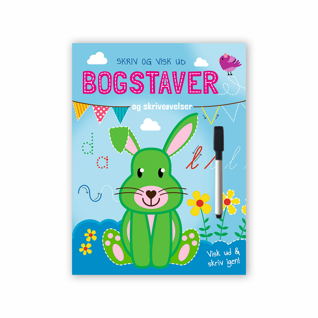 Image of Bogstaver - Skriv og visk ud