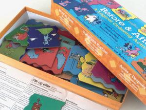 Før og efter spil handler om sekvenser og forståelse for tid. Børnespil hos ciha.dk