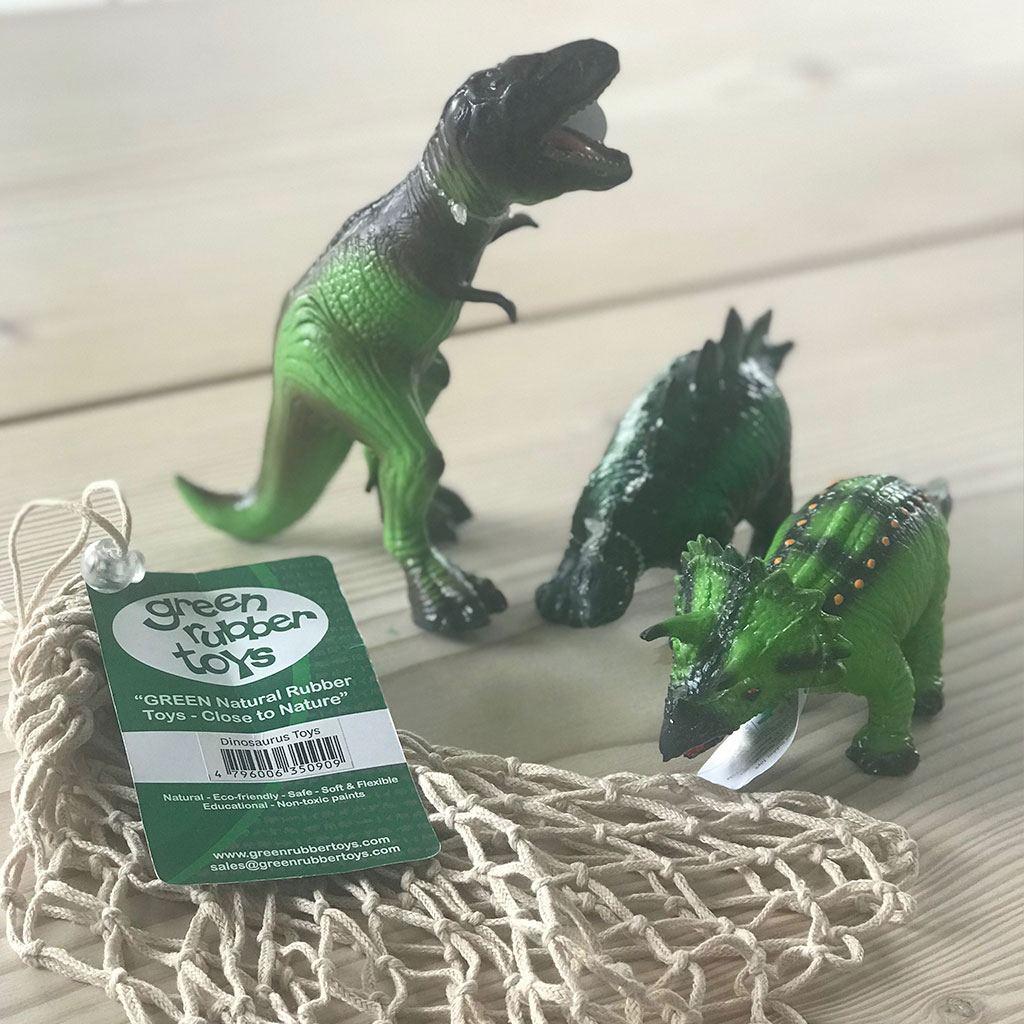 Dinosaurs fremstillet af latex. Sjove dyr fra Grren rubber toys købes hos ciha.dk