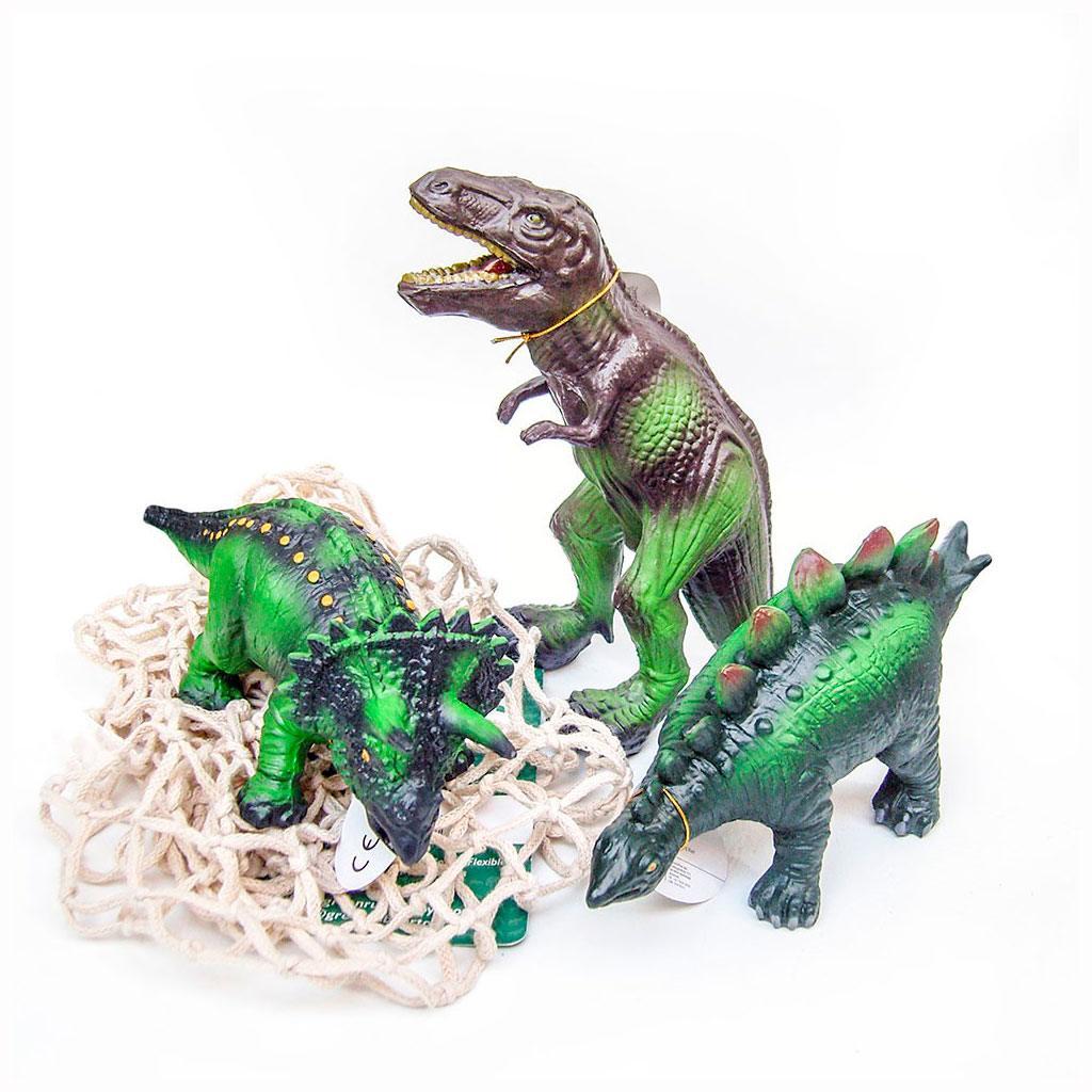 Green rubber toys dinosaurer I gummi. Køb bondegårdsdyr hos www.ciha.dk