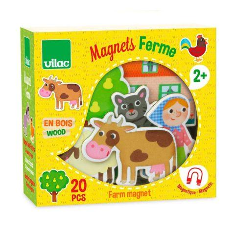 bondegårdsmagneter fra Vilac til masser af sjov, leg og læring hos de små børn. Køb magneter hos ciha.dk