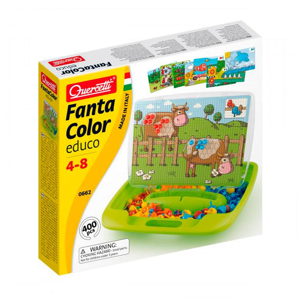 Fantacolor educo mosaik. Lærerigt legetøj fra Quercetti købes hos ciha.dk