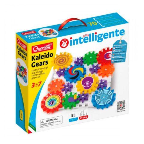 Kaleido gears byggesæt fra Quercetti. Lærerigt legetøj der styrker barnets kognition.