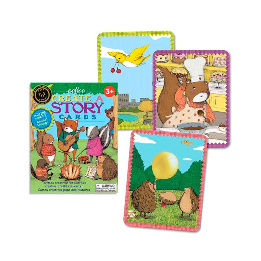 Opdigt og fortæl en historie med disse skønne kort med billeder fra dyrebyen. Styrker barnets kreativitet og evne til at fortælle historier. Køb hos www.ciha.dk