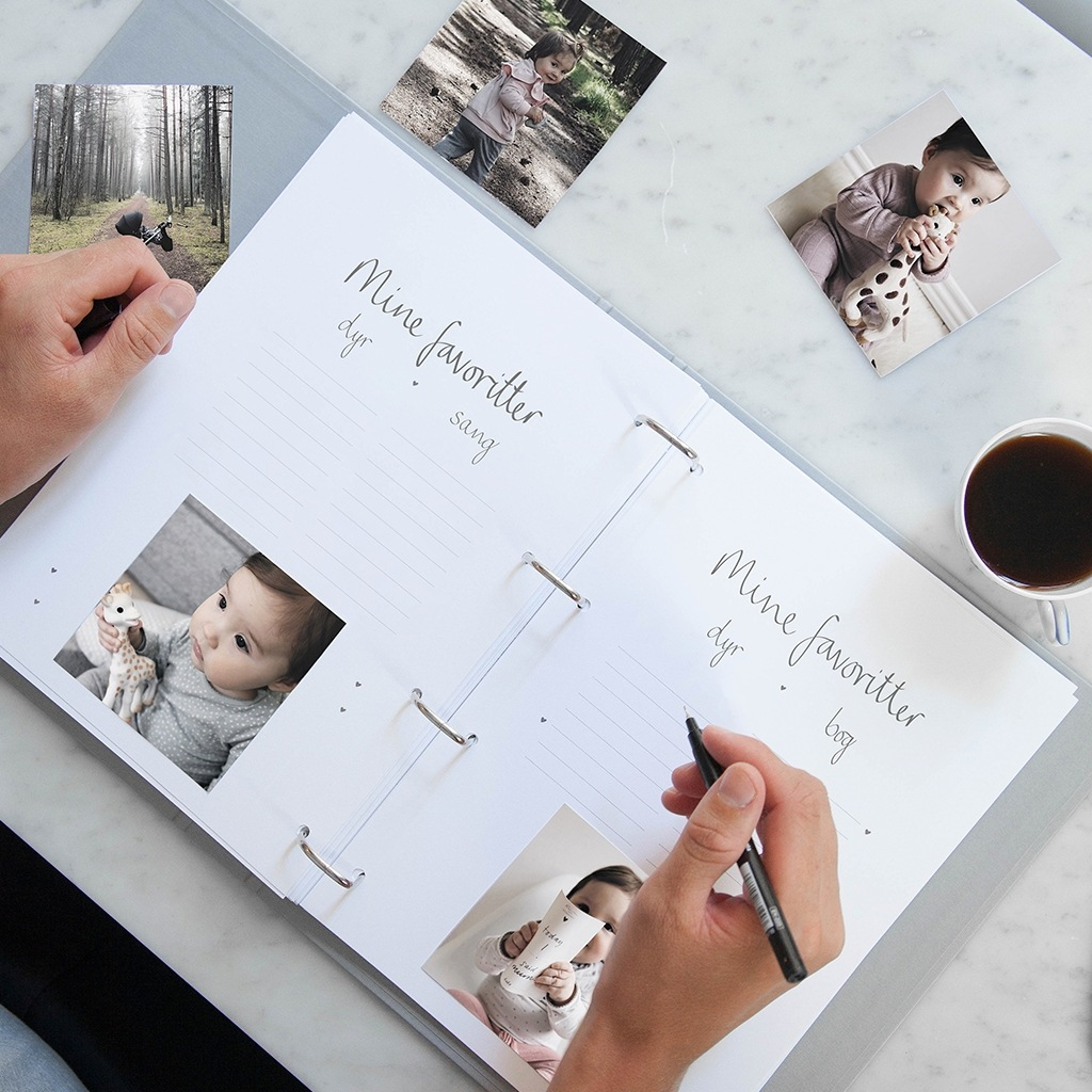 barnets bog ringbind til at forevige dyrebare minder gennem dit barns liv