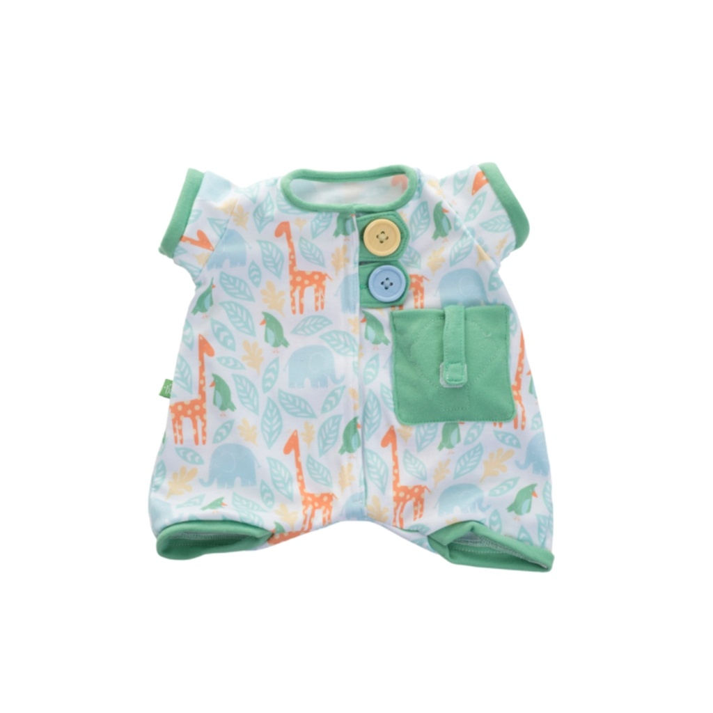 Grøn pyjamas nattøj til Rubens baby