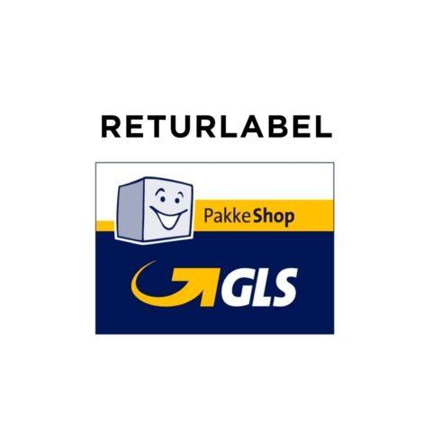 bytte af gaver eller returnering af varer. GLS pakkelabel