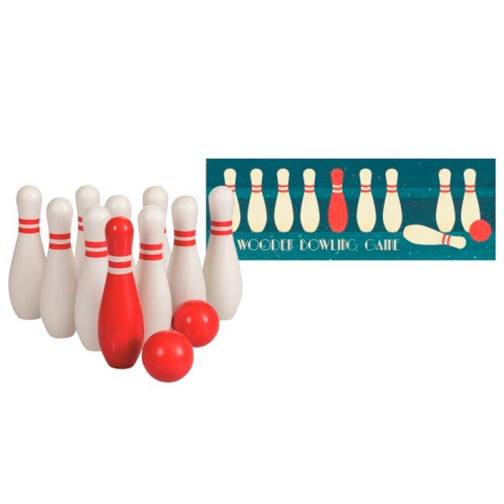 Image of Bowling sæt i træ