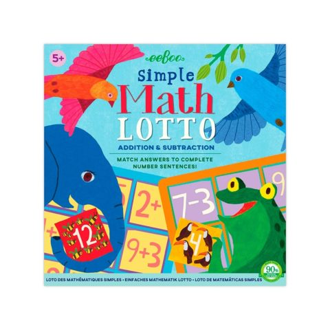 Simpel matematik i et lærerigt og sjovt spil for førskole og skolebørn