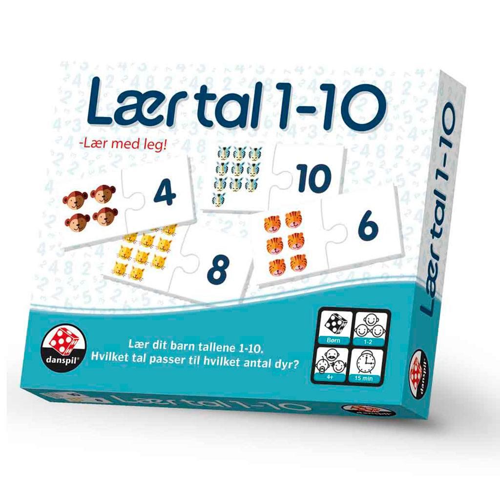 Lær tal 1-10 - Leg og lær! Spil for børn hos ciha.dk