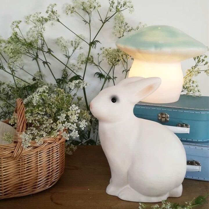 Kanin lampe børneværelse