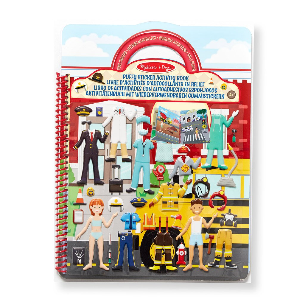 Image of   Aktivitetsbog med klistermærker - Cool karrierer