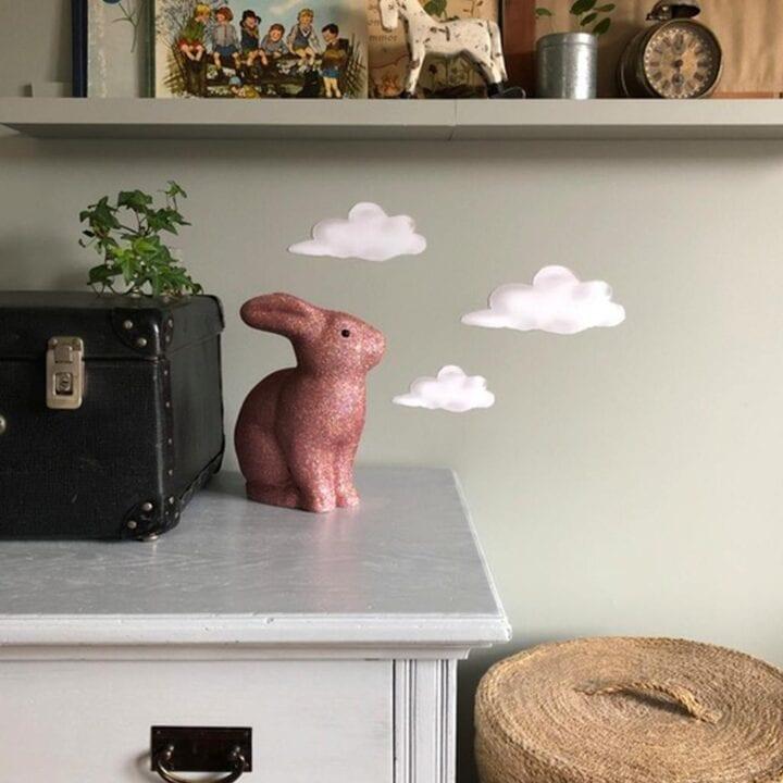 Rosa glimmer kanin lampe