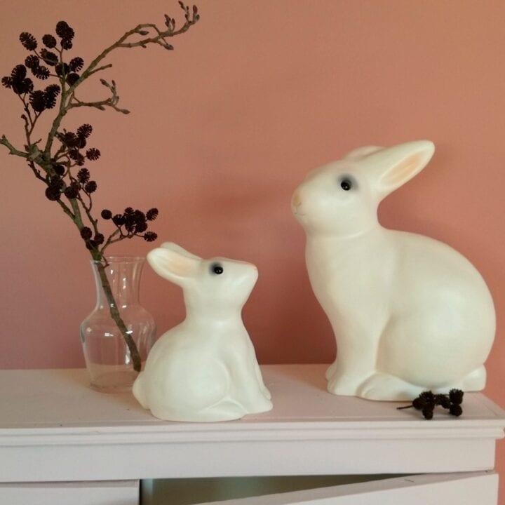 Kanin sparebøsse med kanin lampe