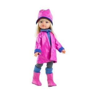 Manica amiga dukke med regntøj og støvler.