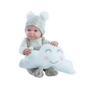 Paola Reina drenge dukke fra Mini pikolin serien. Dukkens fine tæt og sky-bamse medfølger.