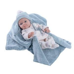 Paola Reina dukke med tæppe. Mini pikolin dukkeserie