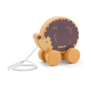 Pindsvin pull along legetøj