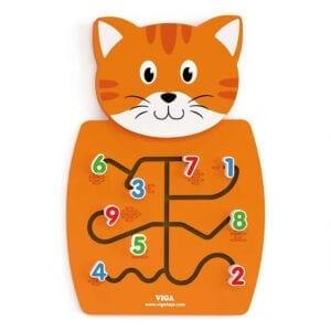 Aktivitetstavle kat med tal og mængder der skal matches.