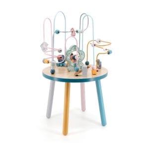 Aktivitetsbord med dyr, perler, former og farver