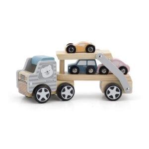 Lastbil dobbeltdækker med 3 biler